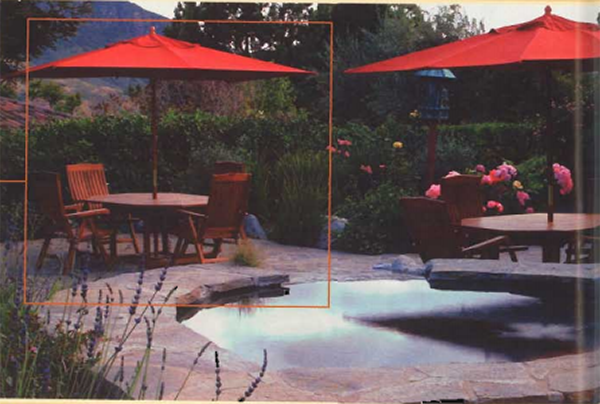 Spa Red Umbrellas