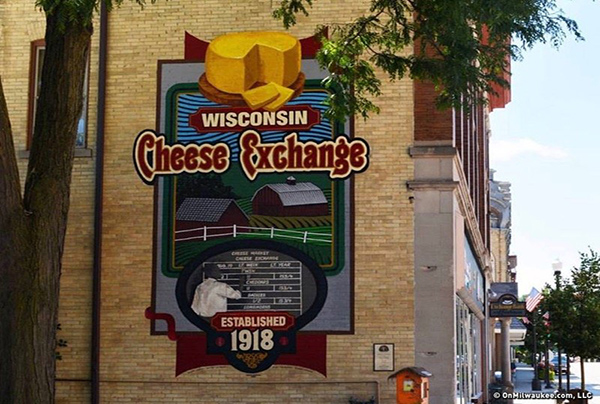 WI cheese exchange sign