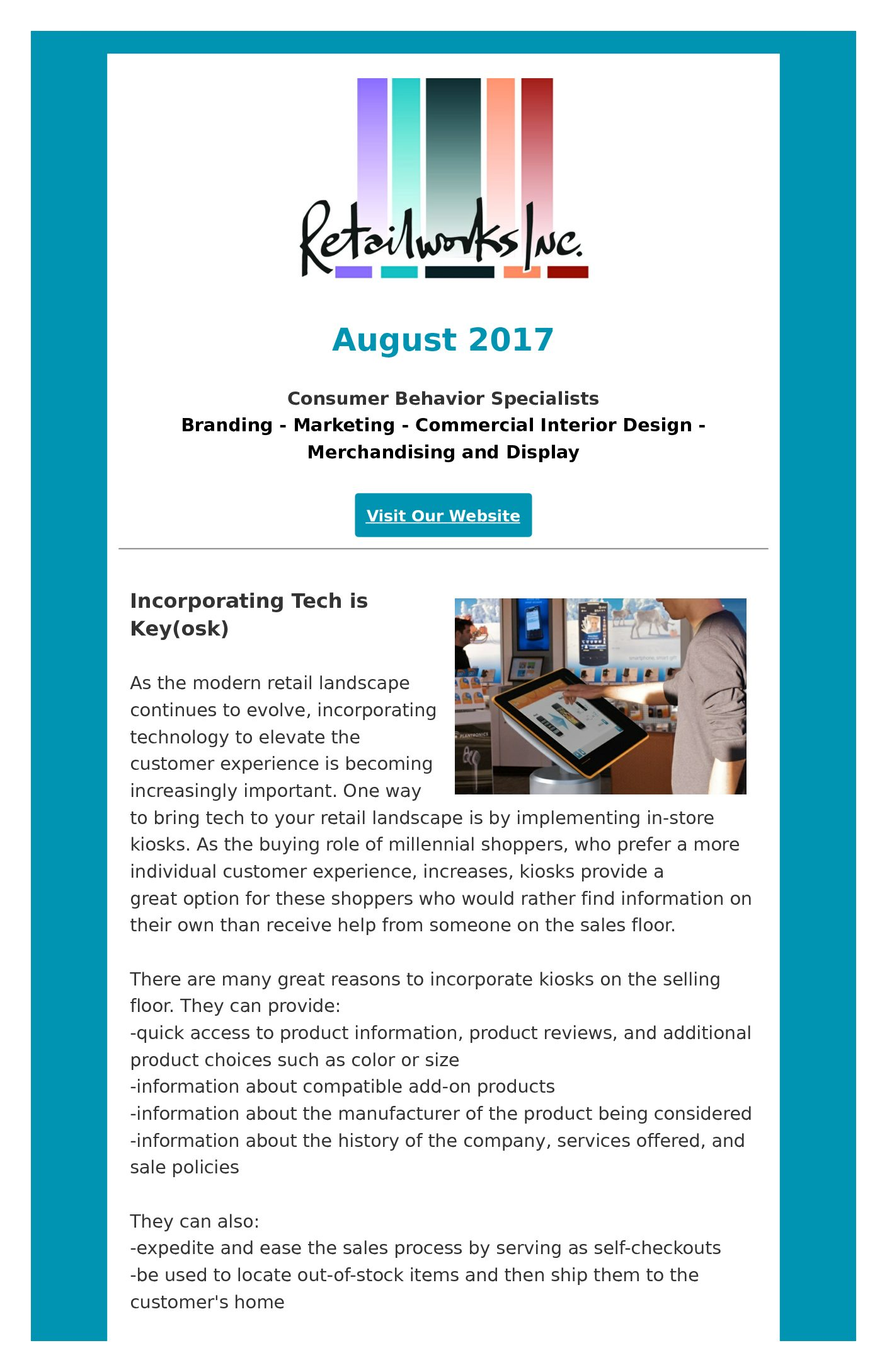 Newsletter - Retailworks Inc
